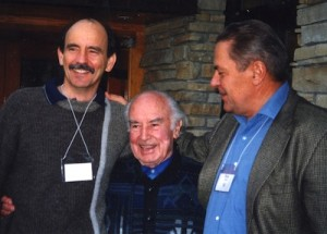 Roger Walsh Albert Hofmann and Stan Grof at Fetzer 1998